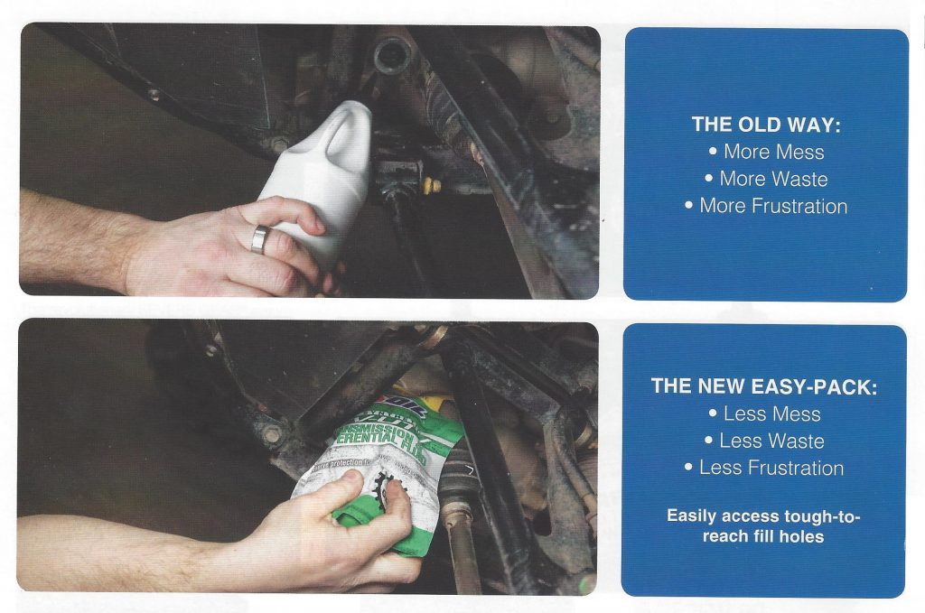 Installing Transmission or Differential Fluid With A Squeeze Bottle vs The AMSOIL Easy-Pack