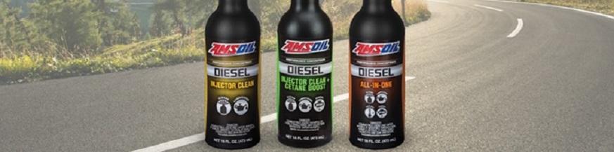 AMSOIL Diesel Injector Clean, Diesel Injector Clean + Cetane Boost, and Diesel All In One
