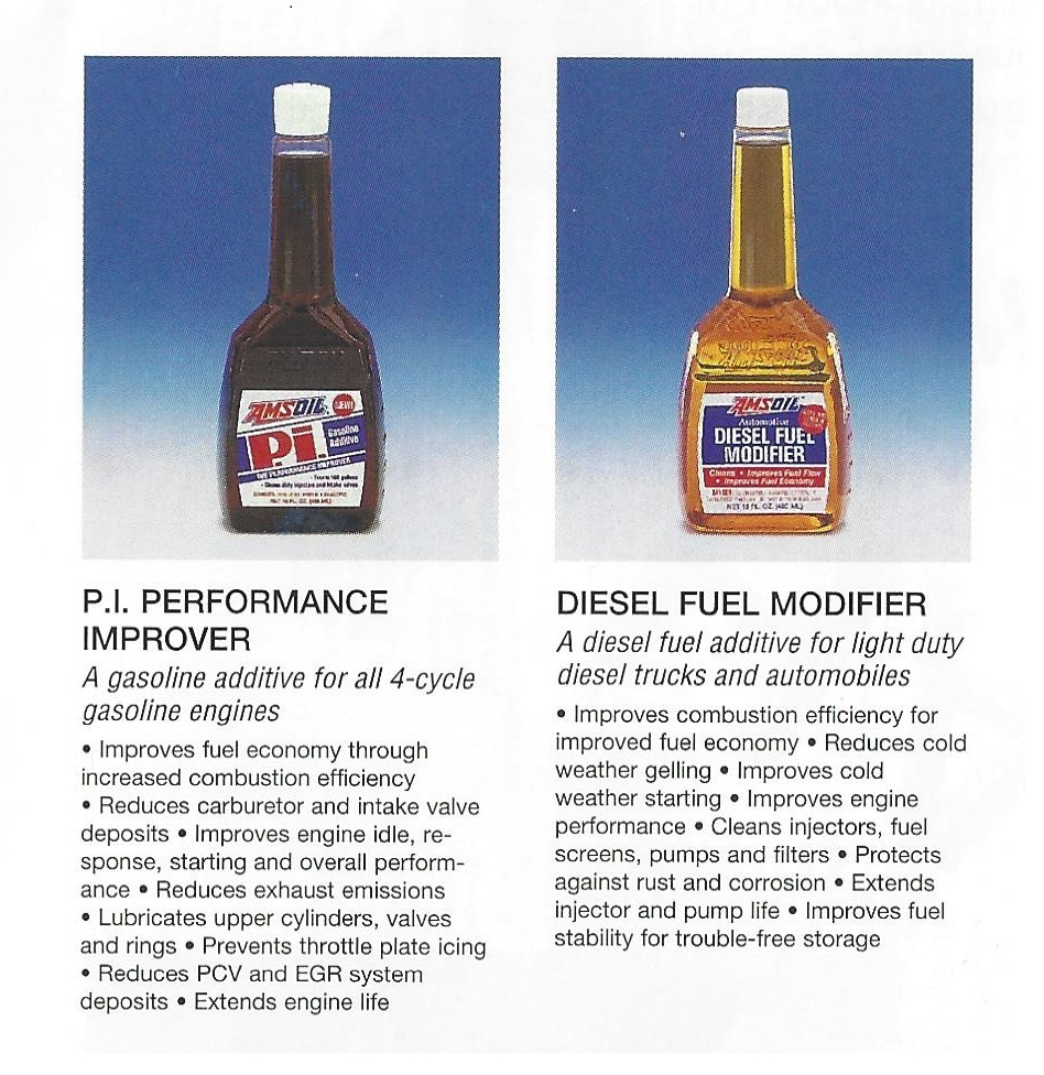 AMSOIL 1995 Calendar Showing AMSOIL API Performance Improver And AMSOIL Diesel Modifier