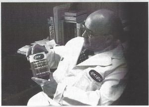 Founder Al Amatuzio With One Of The First Cans Of AMSOIL Synthetic Motor Oil.