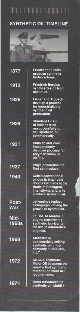 Synthetic Oil Timeline