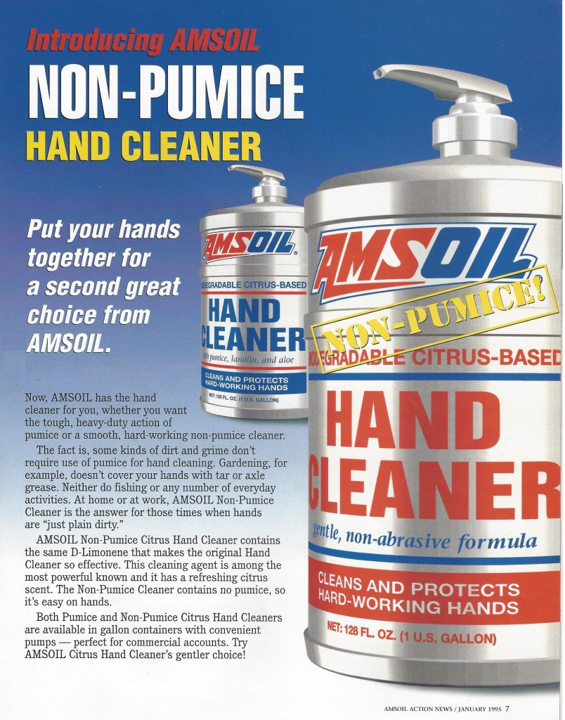 Picture of AMSOIL Pumice & Non-Pumice Hand Cleaner Gallon Containers.