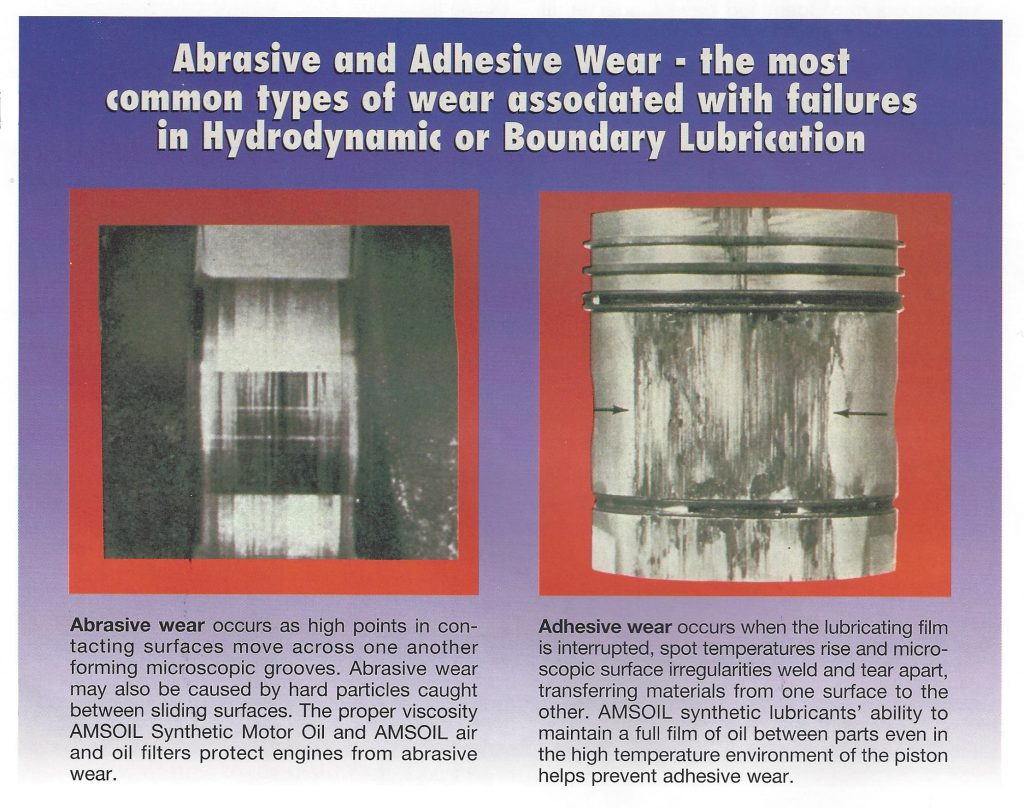Picture showing Abrasive and Adhesive Wear