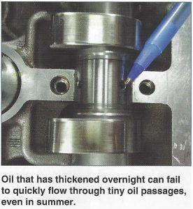 Camshaft Showing Small Oil Ports