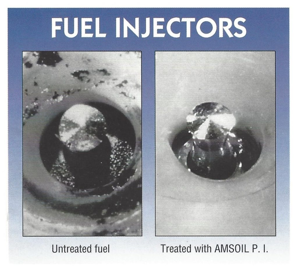 Fuel Injectors Before And After Treatment With AMSOIL P.I.