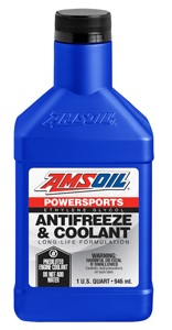 AMSOIL Powersports Antifreeze And Coolant - Quart Bottle