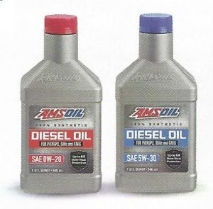 AMSOIL 0w20 % Synthetic Diesel Oil (DP020) And AMSOIL 5w30 100% Synthetic Diesel Oil (DP530)