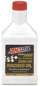 AMSOIL Series 2000 100% Synthetic 20W-50 Racing Oil - Quart Bottle