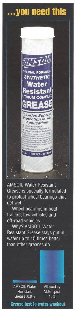 AMSOIL Synthetic Water Resistant Grease cartridge circa 1996