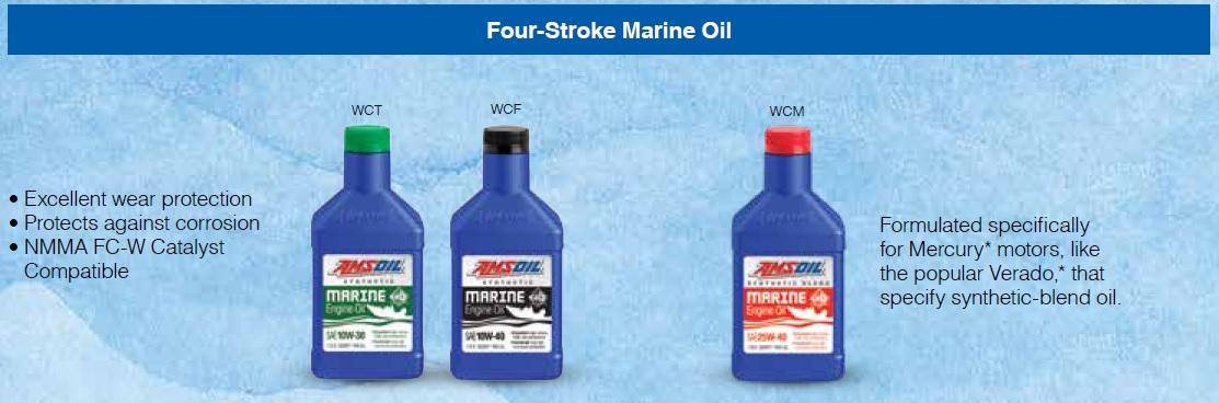 AMSOIL 4-Stroke Marine Oils