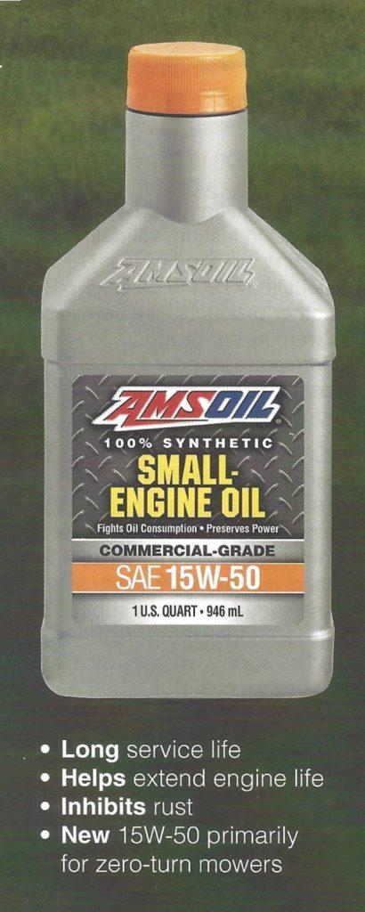 AMSOIL Synthetic Small-Engine Oil Quart Bottle
