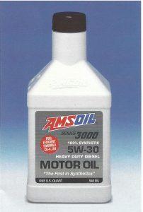 Quart Bottle of AMSOIL Series 3000 Synthetic 5W-30 Heavy Duty Diesel Oil as introduced in 1996